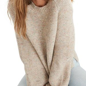 Madewell Flecked Wide-Sleeve Pullover Sweater